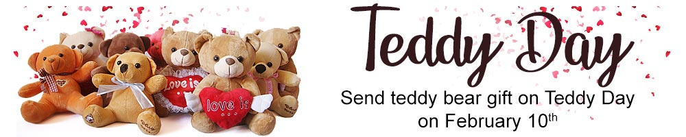 Teddy Bear gift for Valentine to Nepal
