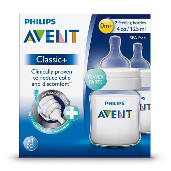 125 ml, Pack of 2 Philips Avent SCF560//27 Classic Bottle Twin