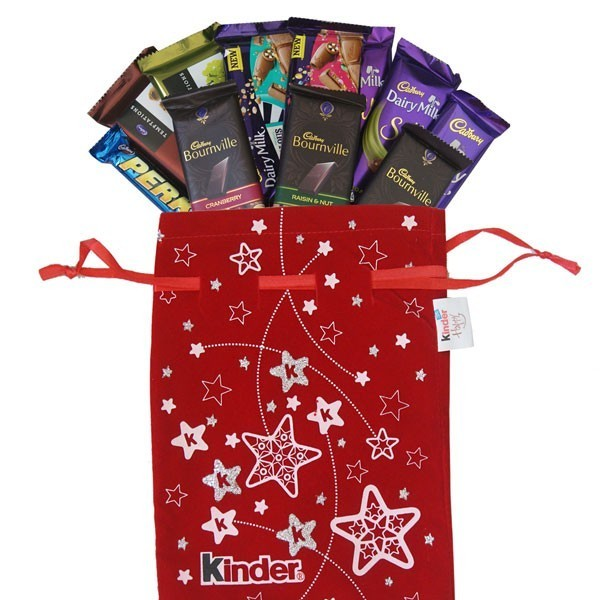 Cadbury Chocolate Package in Christmas Bag - Send Gifts To ...