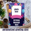Happy Birthday Personalized Card With You Message & Photo