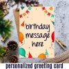 Personalized Birthday Message Greeting Card