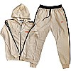 Winter Wear Hoodies Suit Set For Men (Cream)