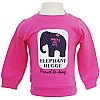 Kids Pink Sweatshirt with Elephant Hugge print