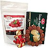 Natural Rudraksha Bracelet, Dried Cranberry, Soan Papdi and Ganesh Ji