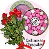 Customized Chocolate Box With Roses