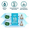Mother Sparsh 99% Pure Water Based Wet Wipes Combo (72 Unscented Baby Wipes) x 2 Pack