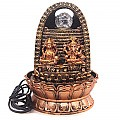 Golden Ganesh & Laxmi Ji Water Fountain (11 inches)