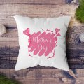 """""""Mother's Day"""" Heart Printed Cushion"""