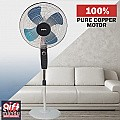 """Baltra 16"""" Stand Fan, 3 Speed, Metal Blade, 55W (Dhoom Metal, BF-177)"""