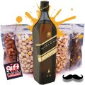JW Double Black Whisky 1000ml & Four Dry Nuts Fruits Pack