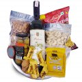 Dry Nuts, Namkeen, Wine, Cheese, Green Olive Gift Tray
