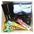 Shirt Piece, Belt, Wallet, Chocolates & Nuts in Box