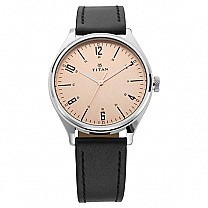 Titan Champagne Dial Analog Watch For Men - 1802SL03