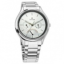 Titan Neo Analog Silver Dial Men's Watch - 1803SM01