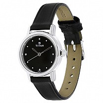 Titan Leather Strap Watch for Men - (1735SL02)
