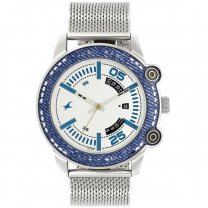 Fastrack Silver Dial Analog Watch For Men - 3188KM01