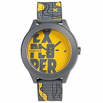 Fastrack Yellow Dial Analog Unisex Watch - 38003PP18