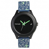 Fastrack Blue Silicone Strap Unisex Watch - 38003PP20