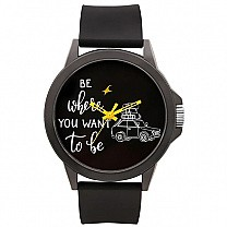 Fastrack Black Dial Silicone Strap Unisex Watch - 38024PP49