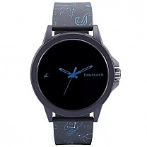 Fastrack Black Dial Unisex Watch - 38024PP54
