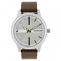 Fastrack Fundamentals White Dial Analog Watch for Men- 38051SL01