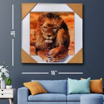 Wall Decor 3D Lion Painting Print 16''