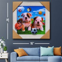 Wall Decor 3D Cute Puppy's Painting Print 16''