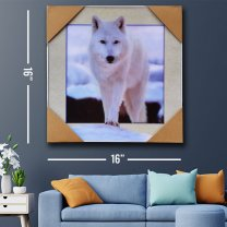 Wall Decor 3D Arctic Wolf Painting Print 16''