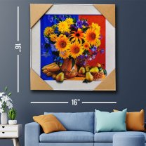 3D Wall Decor Sunflowers Painting Print 16''