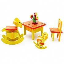 3D Assembling Mini Kinder Garten Chairs Toy Set  (3+ Years)