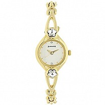 Sonata Champagne Dial Analog Watch For Women - 8065YM01
