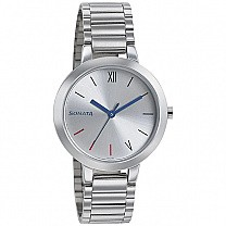 Sonata BusyBees Silver Dial Analog Watch For Women - 8141SM04