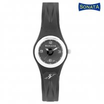Sonata Black Dial Analog Watch For Women - 8945PP01