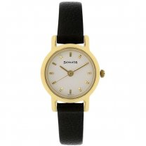 Sonata White Dial Analog Watch For Women - 8976YL02