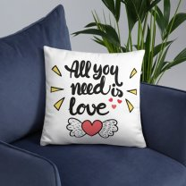 """""""All You Need Is Love"""" Printed Cushion"""