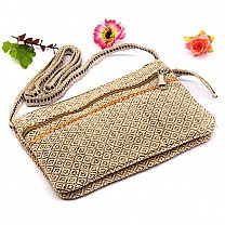 Nettle Fabric Ladies Side Bag- Allo