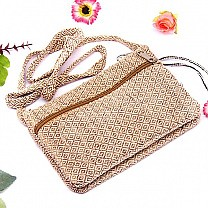 Pure Allo Nettle Fabric Hand-made Ladies Side Bag