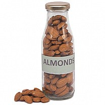 Almonds in Transparent Glass Jar- 150gm