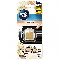 Ambi Pur Car Air Freshener Mini Vent Clip 2ml - Vanilla Bliss