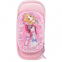 Anime Character Print Pencil Purse - Pink