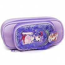 Anime Character Print Pencil Purse - Purple