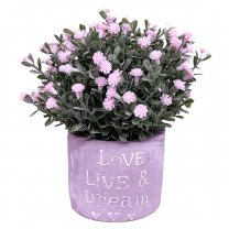 Decorative Artificial Flowers in Beautiful Vase - Pink