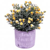 Decorative Artificial Flowers in Beautiful Vase - Yellow