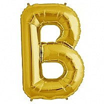 "Foil Balloon Alphabet ""B"" - Bright Golden"