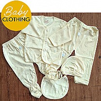 Yellow Clothes Set For New Born Baby (0-3 Month)