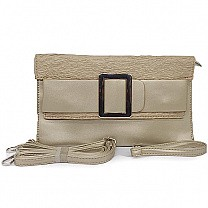 Trendy Ladies Clutch Purse - Light Gold