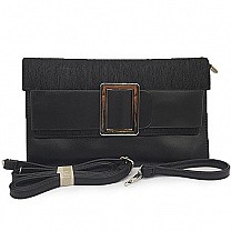 Trendy Ladies Clutch Purse - Black