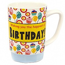 'Wishing You The Happiest of Birthday' Ceramic Coffee Mug