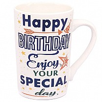 'Happy Birthday Enjoy Your Special Day' Ceramic Coffee Mug
