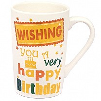 'Wishing You A Very Happy Birthday' Ceramic Coffee Mug